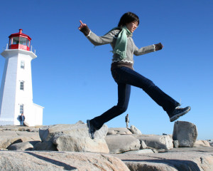 ILI Asian Student at Peggy's Cove