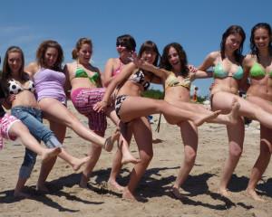 Bikini-clad ILI Italian Students at Beach