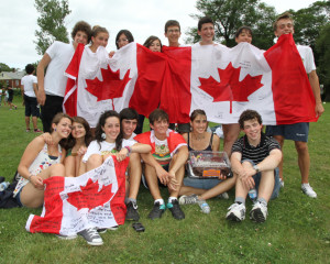 ILI ITalian Students with Canadian Flag