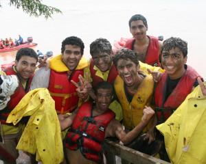 ILI Students River Rafting