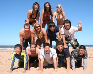 ILI Students at the Beach