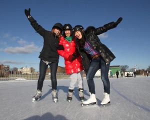 Skating at Halifax Oval